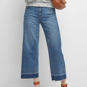 GAP wide leg high rise let down hem jeans X4